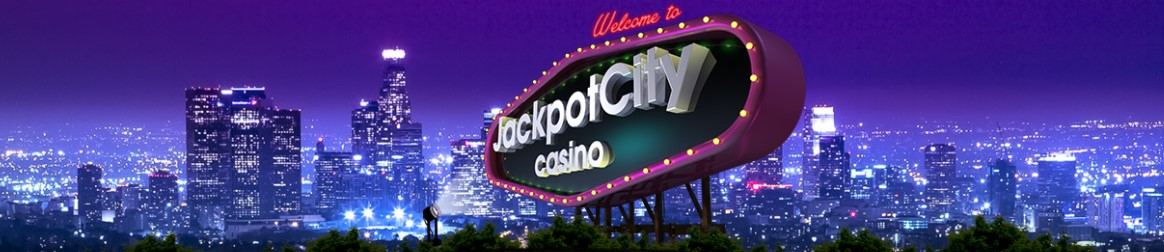 An animated online billboard with Jackpot City's logo.