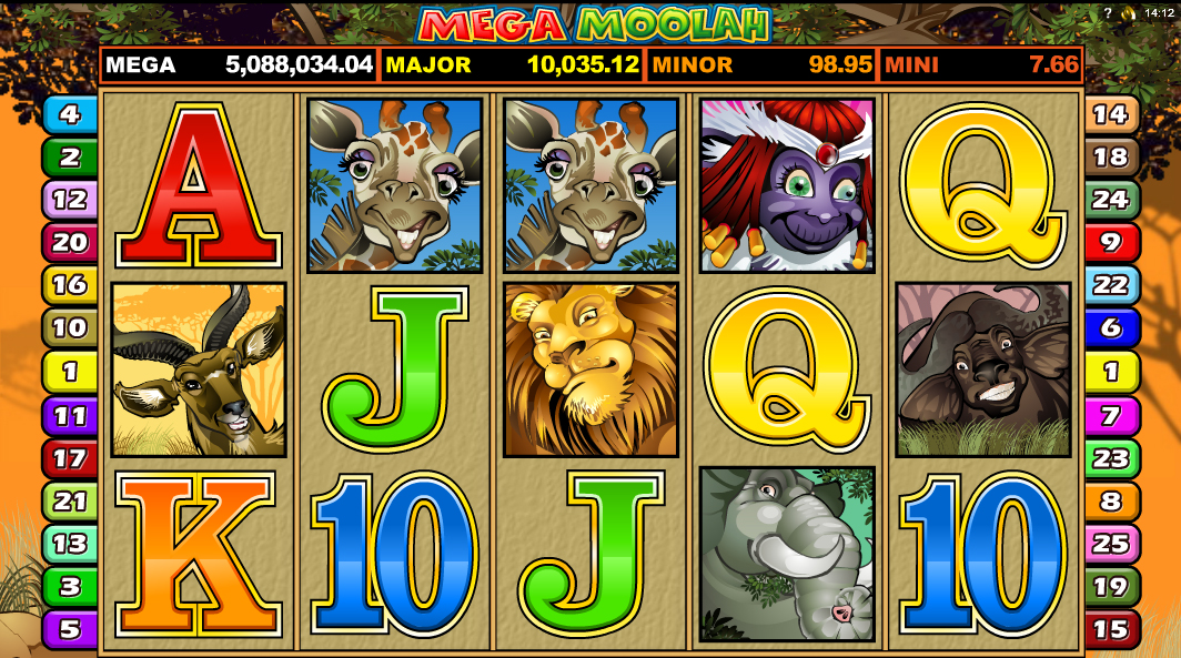 Mega Moolah Mobile Slot from Microgaming